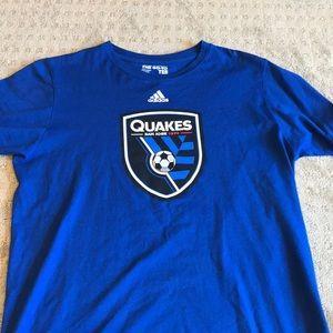 Blue Adidas San Jose Earthquakes T-Shirt